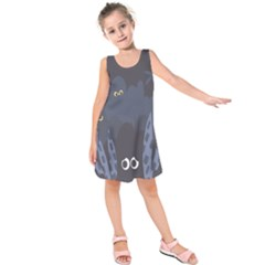 Ghost Halloween Eye Night Sinister Kids  Sleeveless Dress by Mariart