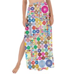 Circle Rainbow Polka Dots Maxi Chiffon Tie Up Sarong