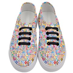 Circle Rainbow Polka Dots Women s Classic Low Top Sneakers