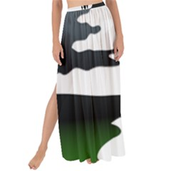 Landscape Silhouette Clipart Kid Abstract Family Natural Green White Maxi Chiffon Tie Up Sarong