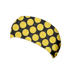 Circles2 Black Marble & Yellow Colored Pencil (r) Yoga Headband by trendistuff