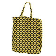 Circles3 Black Marble & Yellow Colored Pencil (r) Giant Grocery Zipper Tote by trendistuff