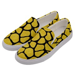 Skin1 Black Marble & Yellow Colored Pencil (r) Men s Canvas Slip Ons by trendistuff