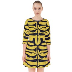 Skin2 Black Marble & Yellow Colored Pencil Smock Dress by trendistuff