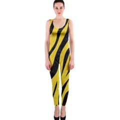 Skin3 Black Marble & Yellow Colored Pencil Onepiece Catsuit
