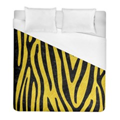 Skin4 Black Marble & Yellow Colored Pencil (r) Duvet Cover (full/ Double Size) by trendistuff
