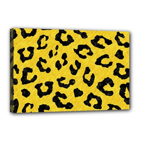 Skin5 Black Marble & Yellow Colored Pencil (r) Canvas 18  X 12  by trendistuff