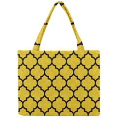 Tile1 Black Marble & Yellow Colored Pencil Mini Tote Bag by trendistuff