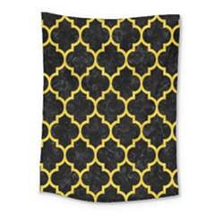 Tile1 Black Marble & Yellow Colored Pencil (r) Medium Tapestry