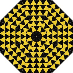 Triangle2 Black Marble & Yellow Colored Pencil Hook Handle Umbrellas (medium) by trendistuff