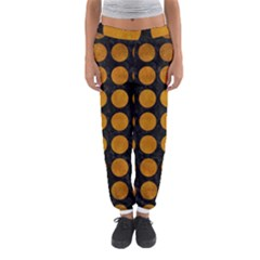 Circles1 Black Marble & Yellow Grunge (r) Women s Jogger Sweatpants by trendistuff