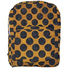Circles2 Black Marble & Yellow Grunge Full Print Backpack