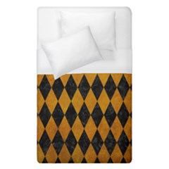 Diamond1 Black Marble & Yellow Grunge Duvet Cover (single Size) by trendistuff