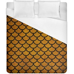 Scales1 Black Marble & Yellow Grunge Duvet Cover (california King Size) by trendistuff