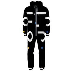 Line Circle Triangle Polka Sign Hooded Jumpsuit (men)  by Mariart