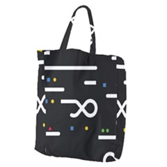 Line Circle Triangle Polka Sign Giant Grocery Zipper Tote