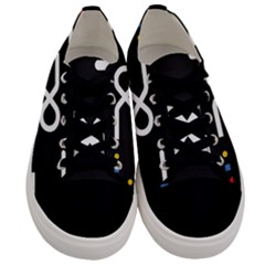 Line Circle Triangle Polka Sign Men s Low Top Canvas Sneakers