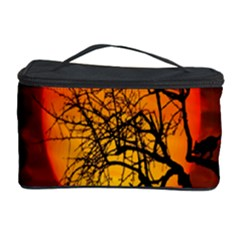Helloween Midnight Graveyard Silhouette Cosmetic Storage Case by Mariart