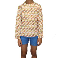 Food Pizza Bread Pasta Triangle Kids  Long Sleeve Swimwear