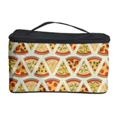 Food Pizza Bread Pasta Triangle Cosmetic Storage Case by Mariart