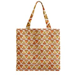 Food Pizza Bread Pasta Triangle Zipper Grocery Tote Bag