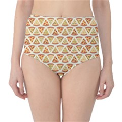 Food Pizza Bread Pasta Triangle High Waist Bikini Bottoms by Mariart
