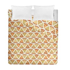 Food Pizza Bread Pasta Triangle Duvet Cover Double Side (full/ Double Size) by Mariart