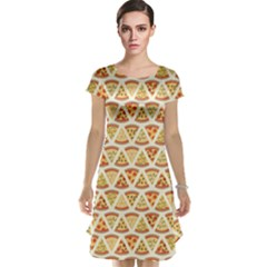 Food Pizza Bread Pasta Triangle Cap Sleeve Nightdress by Mariart