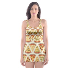 Food Pizza Bread Pasta Triangle Skater Dress Swimsuit by Mariart