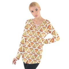 Food Pizza Bread Pasta Triangle Tie Up Tee