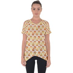 Food Pizza Bread Pasta Triangle Cut Out Side Drop Tee by Mariart