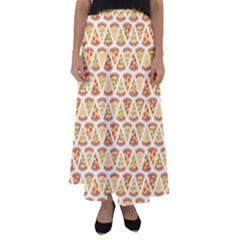 Food Pizza Bread Pasta Triangle Flared Maxi Skirt by Mariart