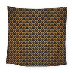Scales2 Black Marble & Yellow Grunge (r) Square Tapestry (large) by trendistuff