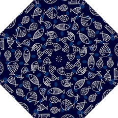 Love Fish Seaworld Swim Blue White Sea Water Cartoons Hook Handle Umbrellas (large) by Mariart