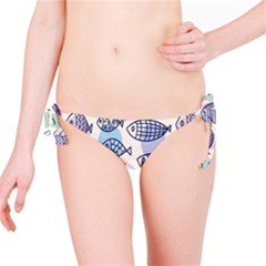 Love Fish Seaworld Swim Blue White Sea Water Cartoons Rainbow Polka Dots Bikini Bottom