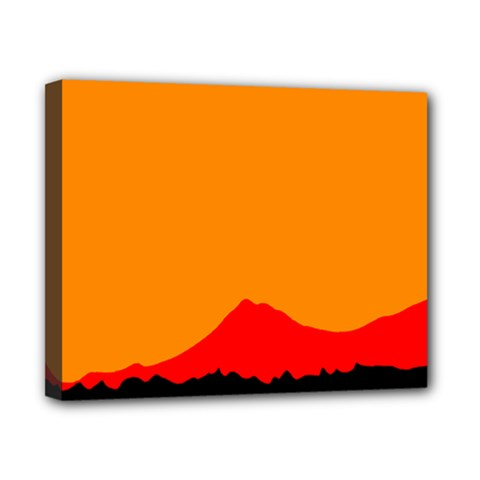 Mountains Natural Orange Red Black Canvas 10  X 8