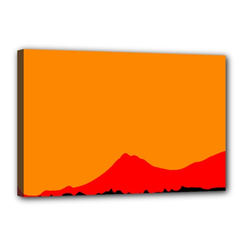 Mountains Natural Orange Red Black Canvas 18  X 12