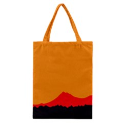 Mountains Natural Orange Red Black Classic Tote Bag