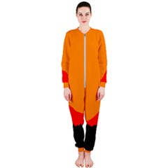 Mountains Natural Orange Red Black Onepiece Jumpsuit (ladies)