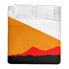 Mountains Natural Orange Red Black Duvet Cover (full/ Double Size)