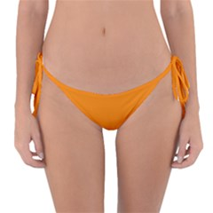 Mountains Natural Orange Red Black Reversible Bikini Bottom