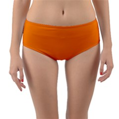 Mountains Natural Orange Red Black Reversible Mid Waist Bikini Bottoms