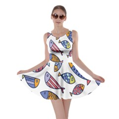 Love Fish Seaworld Swim Rainbow Cartoons Skater Dress