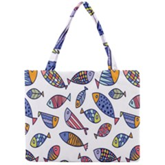 Love Fish Seaworld Swim Rainbow Cartoons Mini Tote Bag