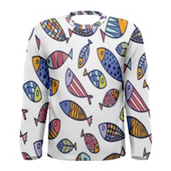 Love Fish Seaworld Swim Rainbow Cartoons Men s Long Sleeve Tee