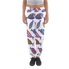 Love Fish Seaworld Swim Rainbow Cartoons Women s Jogger Sweatpants