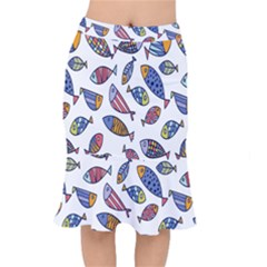 Love Fish Seaworld Swim Rainbow Cartoons Mermaid Skirt