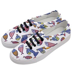 Love Fish Seaworld Swim Rainbow Cartoons Women s Classic Low Top Sneakers by Mariart