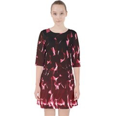Lying Red Triangle Particles Dark Motion Pocket Dress by Mariart
