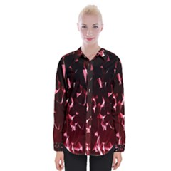 Lying Red Triangle Particles Dark Motion Womens Long Sleeve Shirt